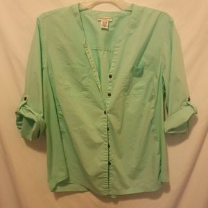 Rebecca malone Button down with roll up sleeve